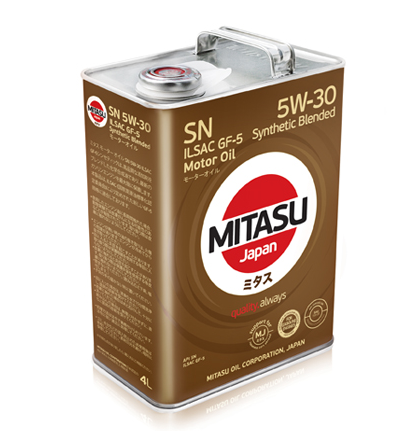 Mitasu MJ-120 Motor Oil SN 5W-30 4 л